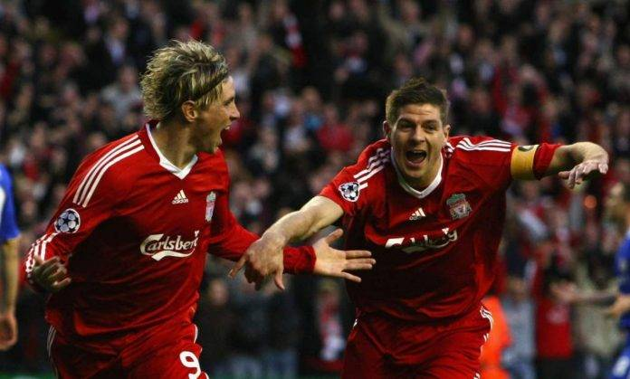 Fernando Torres e Gerrard al Liverpool