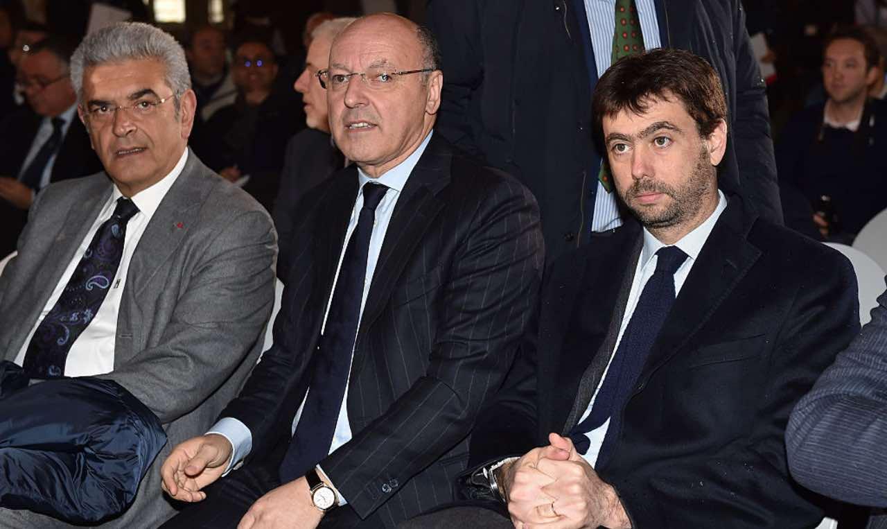 Marotta con Agnelli quando era ancora alla Juventus