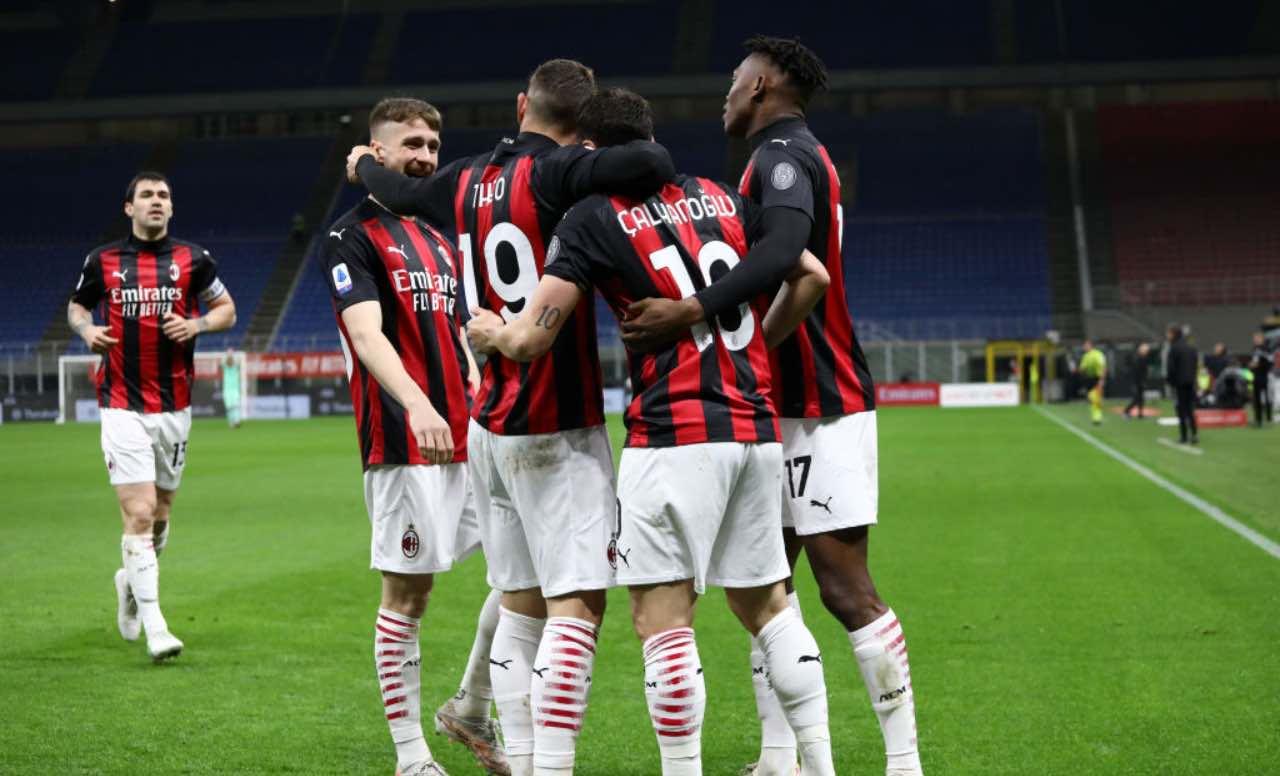 Esultanza Milan dopo un gol