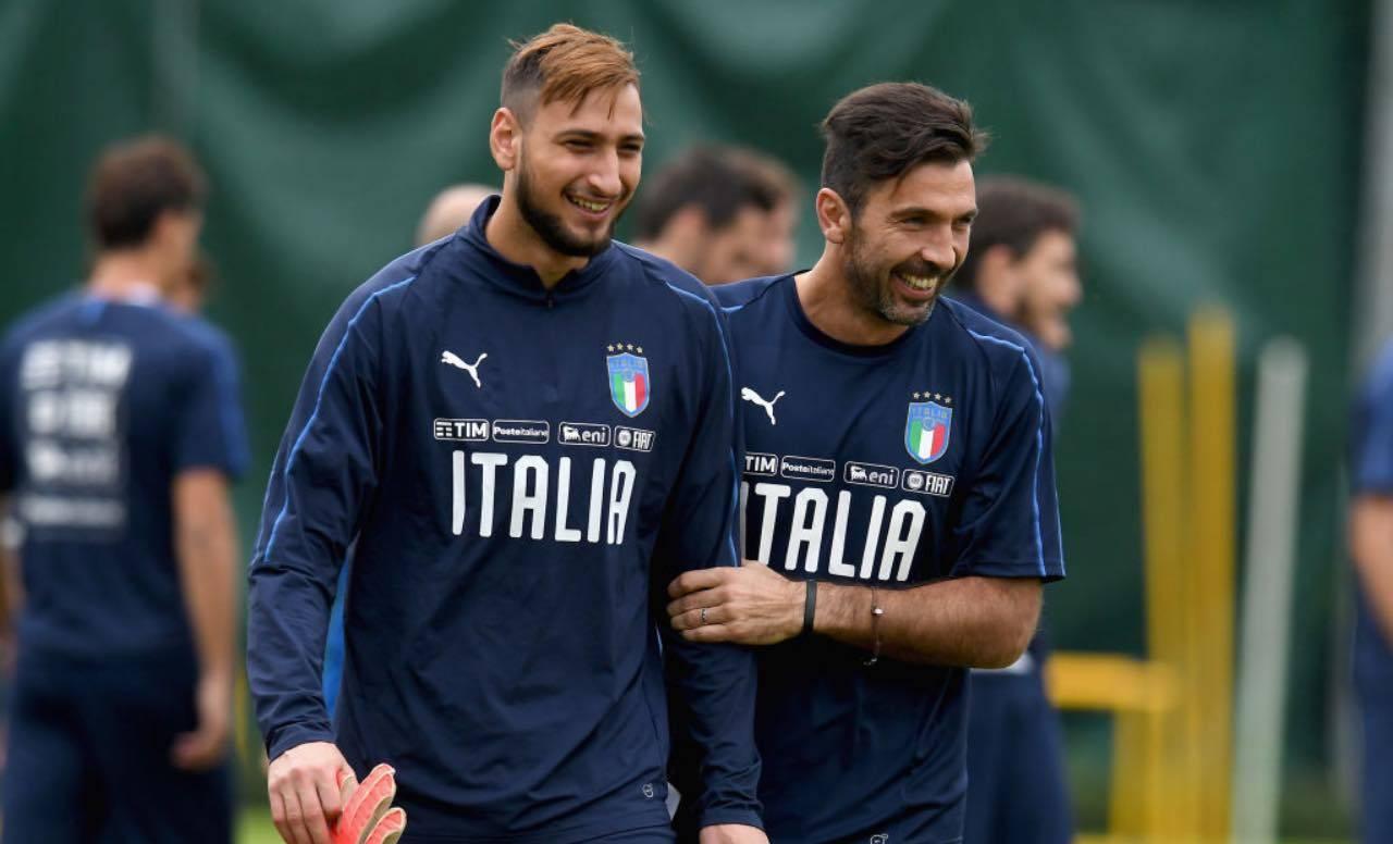 Buffon e Donnarumma in Nazionale