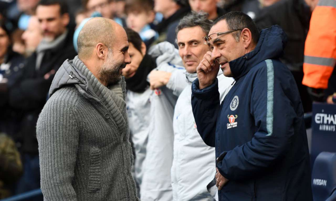 Guardiola e Sarri in Premier League
