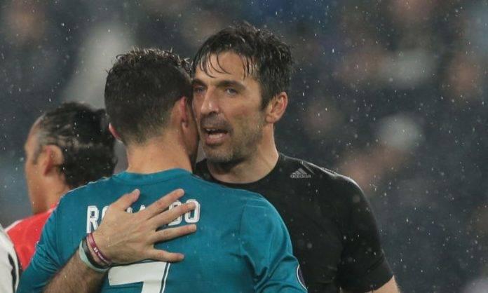 Buffon e Ronaldo durante un Juve-Real