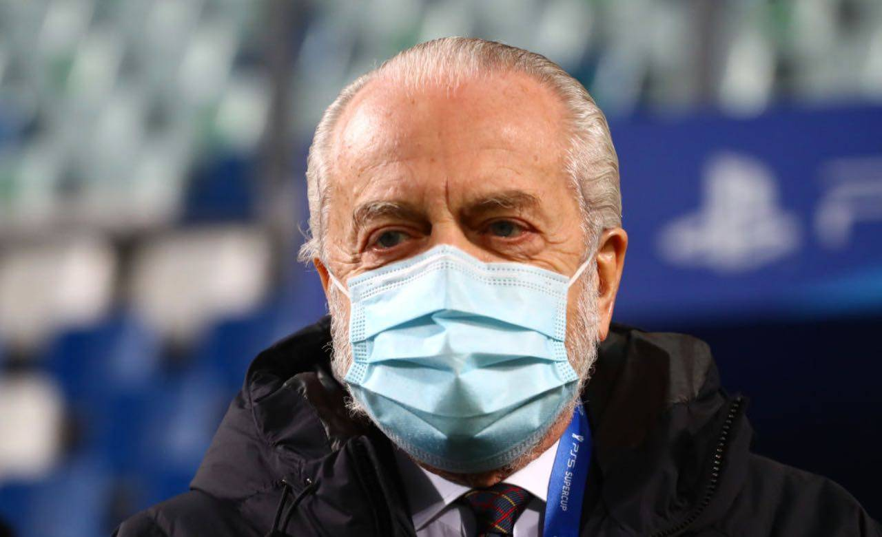 Aurelio De Laurentiis con mascherina