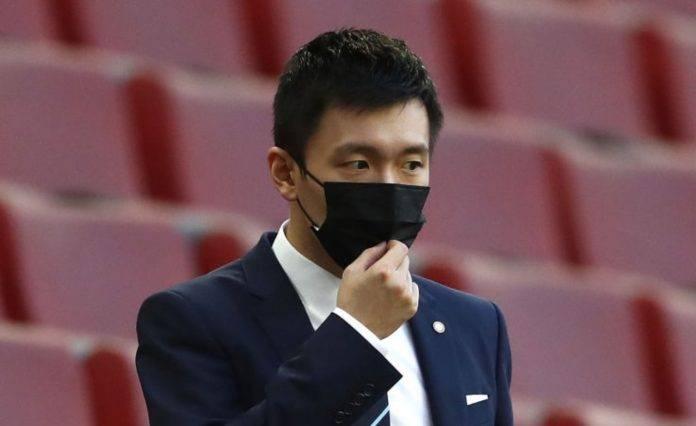 Steven Zhang durante la finale di Europa League