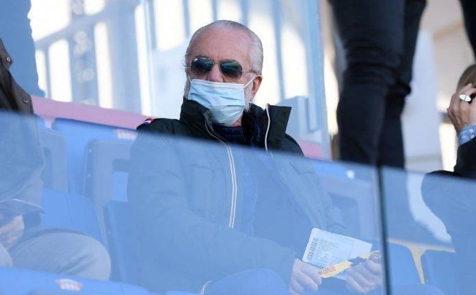 Aurelio De Laurentiis in tribuna a Benevento