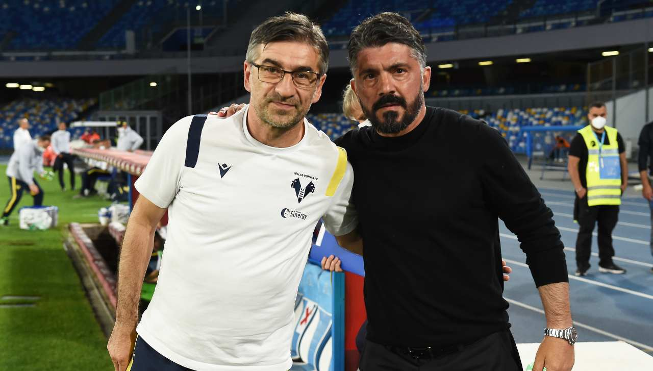 Juric e Gattuso in posa