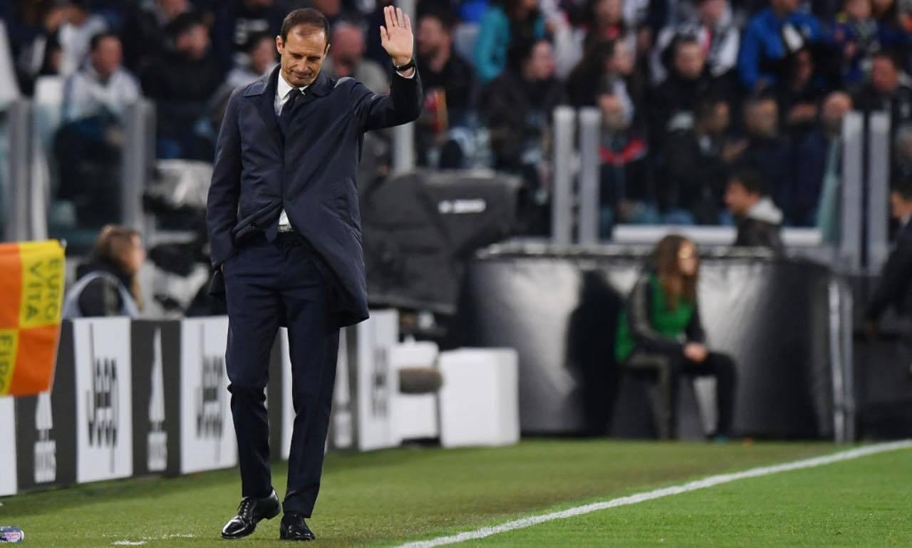 Massimiliano Allegri sulla panchina della Juventus