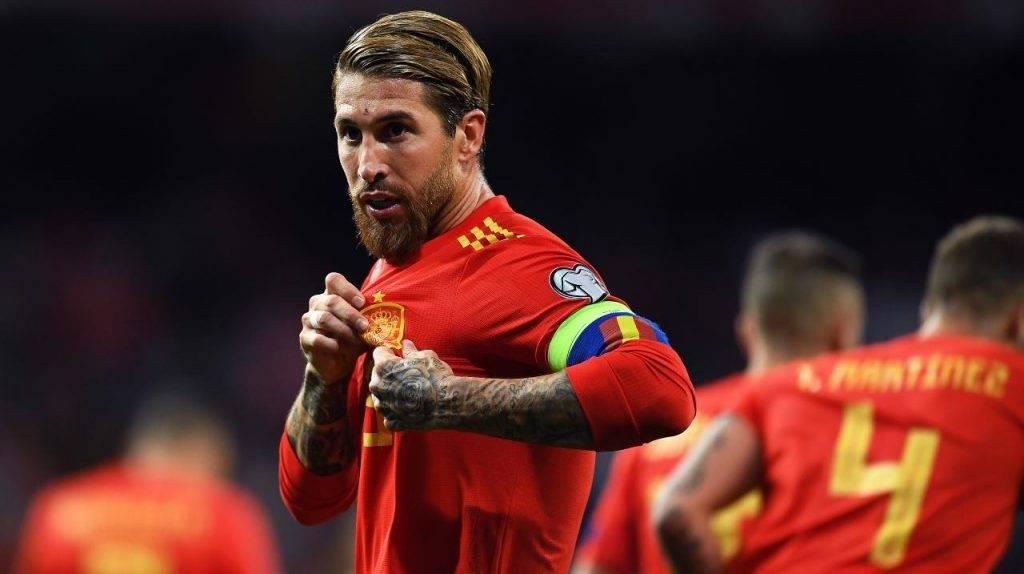 Sergio Ramos con la Spagna