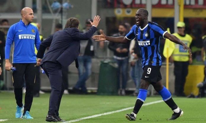 Conte e Lukaku in Milan-Inter