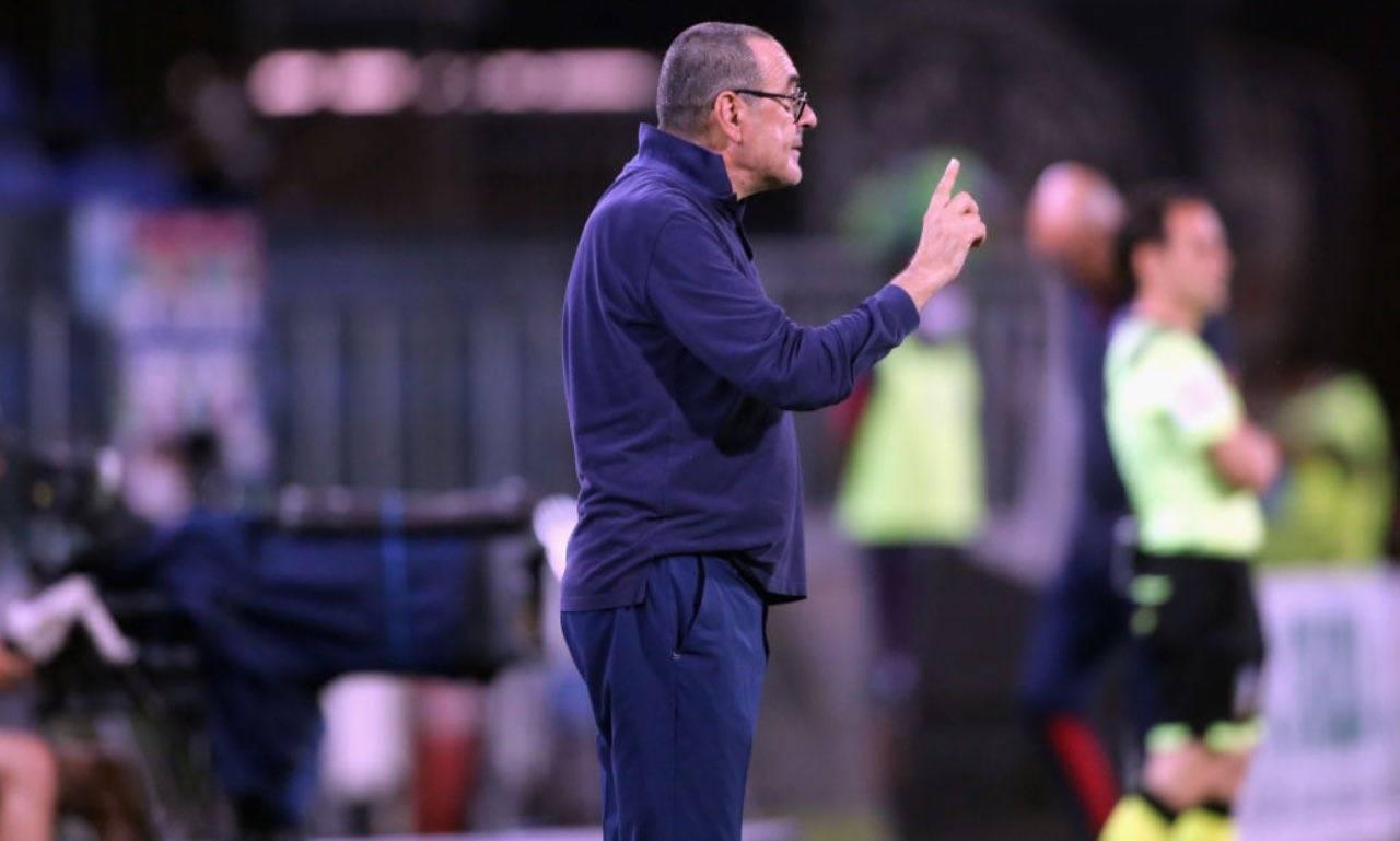 Sarri in Cagliari-Juventus