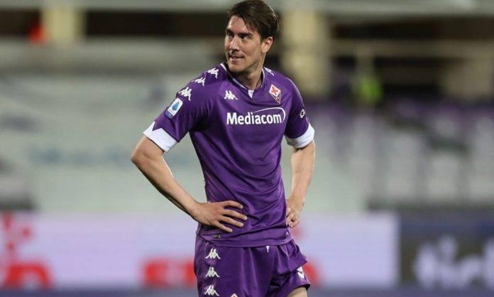 Vlahovic in Lazio-Fiorentina