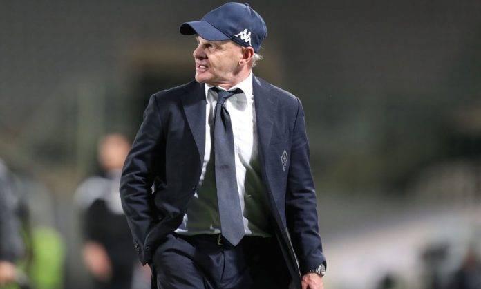 Iachini durante Fiorentina-Lazio