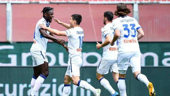 Genoa-Atalanta in campo