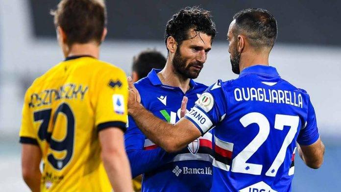 Sampdoria-Parma in campo
