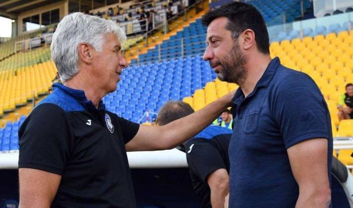 D'Aversa e Gasperini si salutano prima di Parma-Atalanta