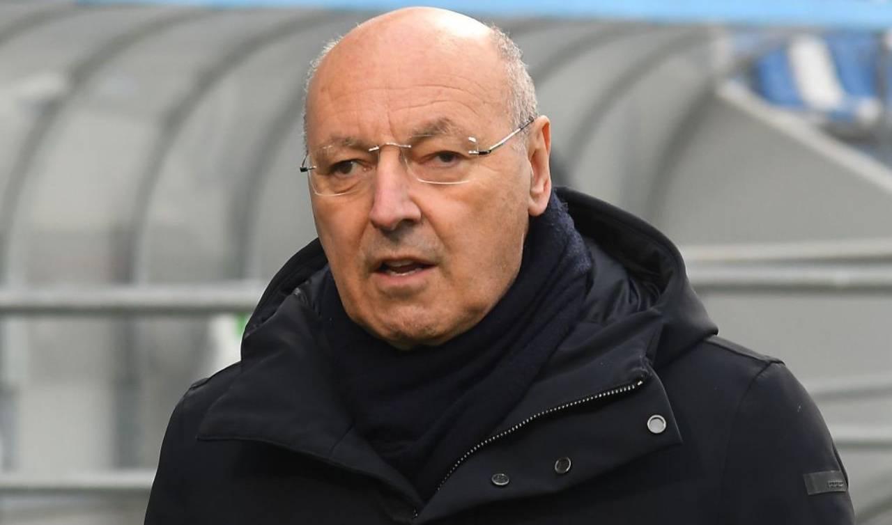 Marotta in panchina con l'Inter