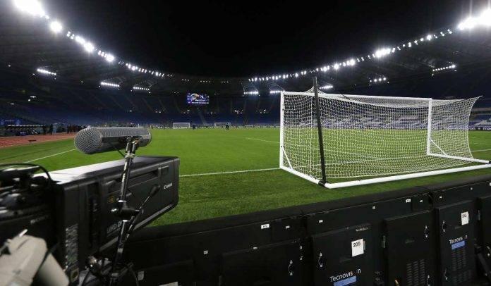 Lazio-Cagliari, telecamera stadio olimpico
