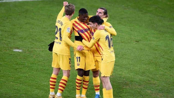 Il Barcellona esulta