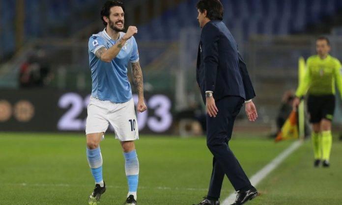 Luis Alberto e Inzaghi esultano insieme, Lazio