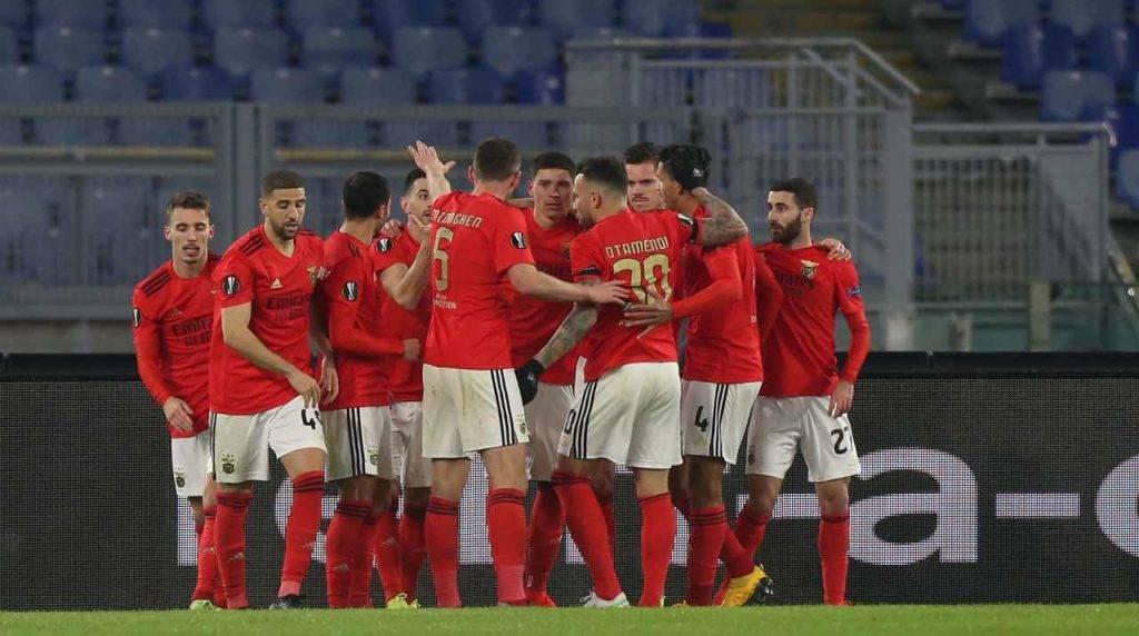 Il Benfica festeggia