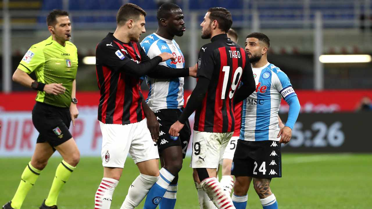 Milan-Napoli in campo