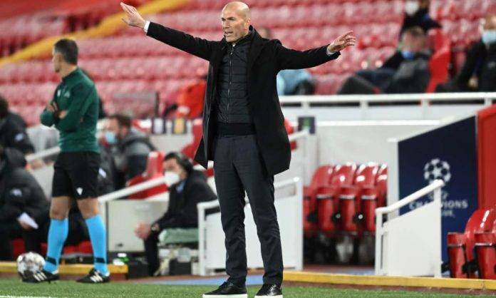 Zidane in Liverpool-Real Madrid
