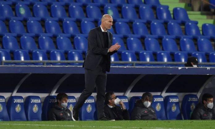 Zidane in Getafe-Real Madrid