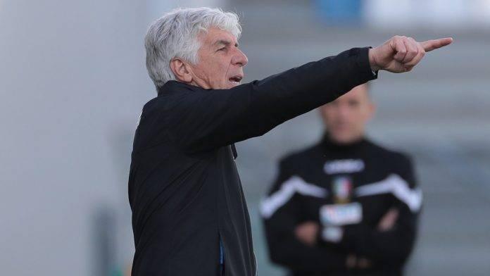 Gianpiero Gasperini a bordocampo