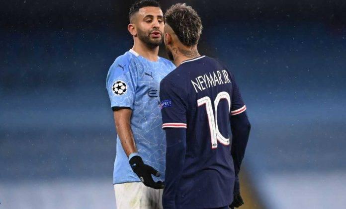 Neymar litiga con Mahrez