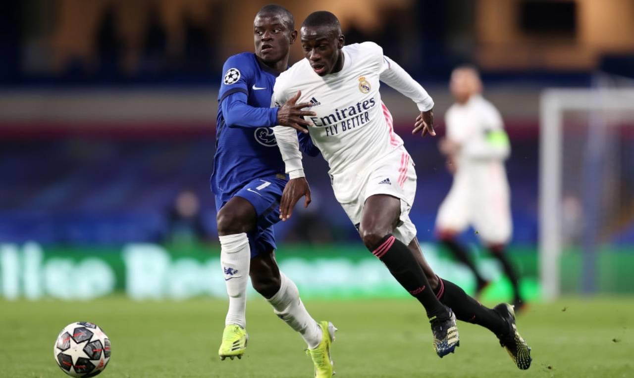 Mendy e Kanté in Chelsea-Real Madrid