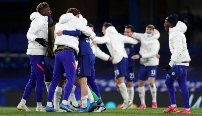 Il Chelsea festeggia la qualificazione in finale di Champions League