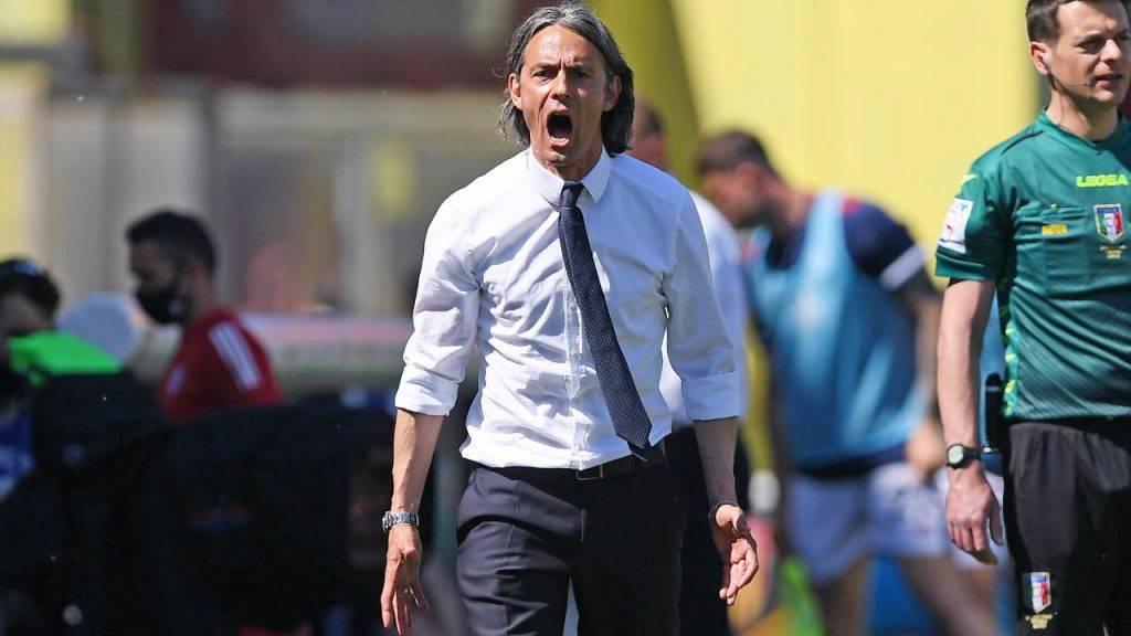 Filippo Inzaghi a bordocampo