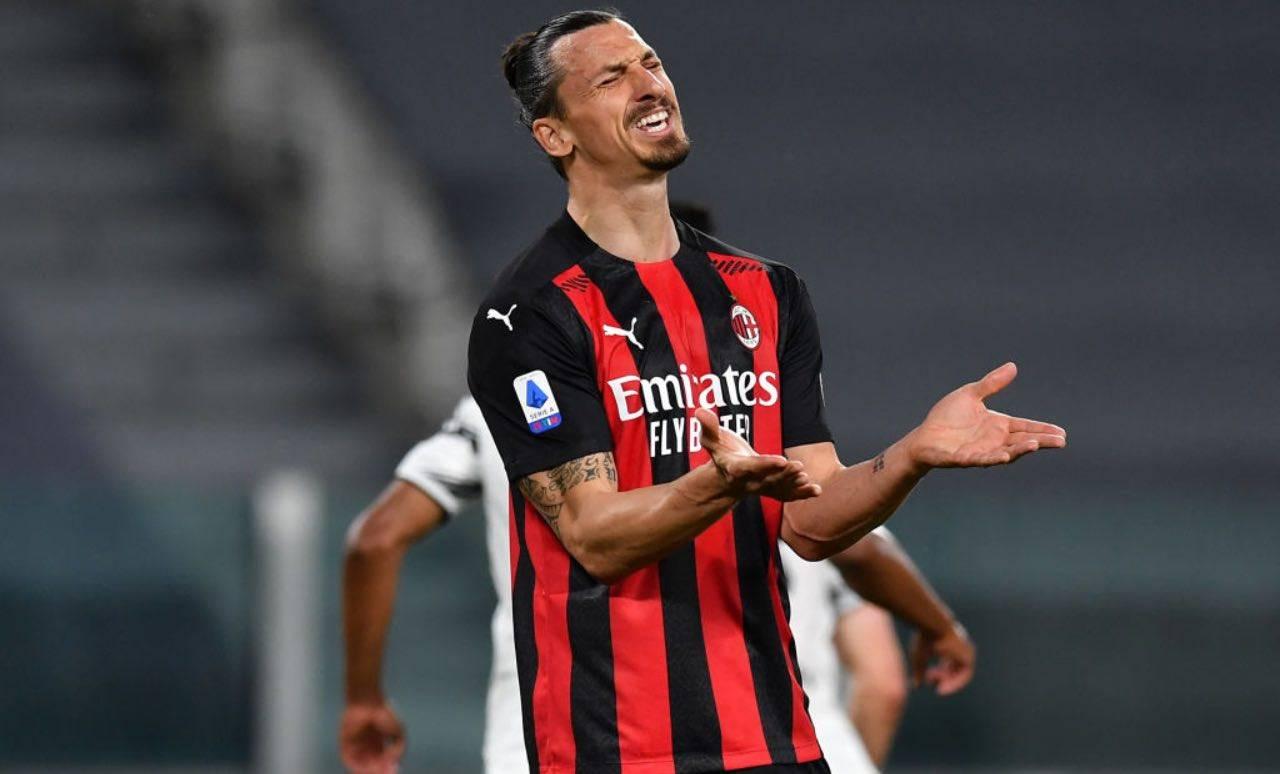 Ibrahimovic in Juventus-Milan