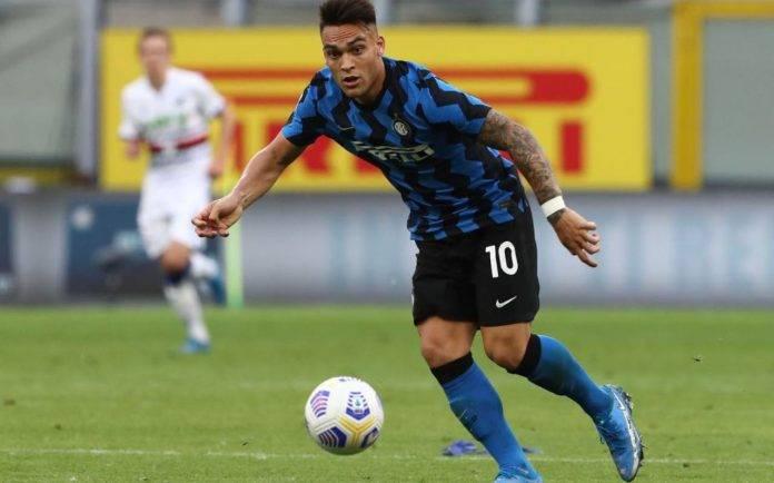 Lautaro in campo in Serie A
