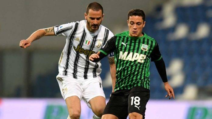 Sassuolo-Juventus in campo