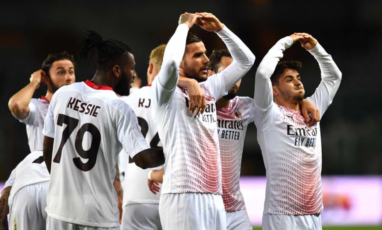 Il Milan esulta per un gol al Torino