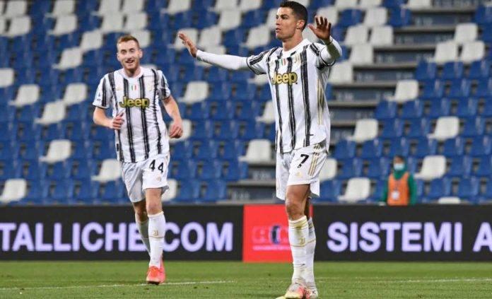 Ronaldo esulta per un gol al Sassuolo