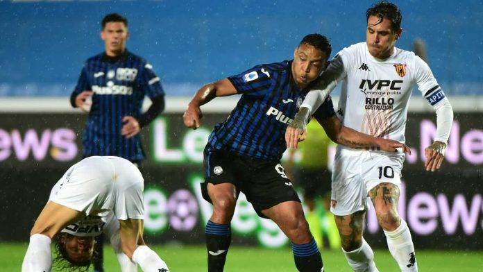 Atalanta-Benevento in campo