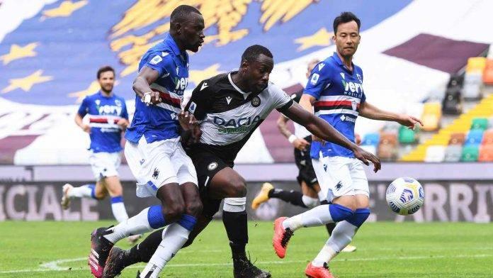 Udinese-Sampdoria in campo