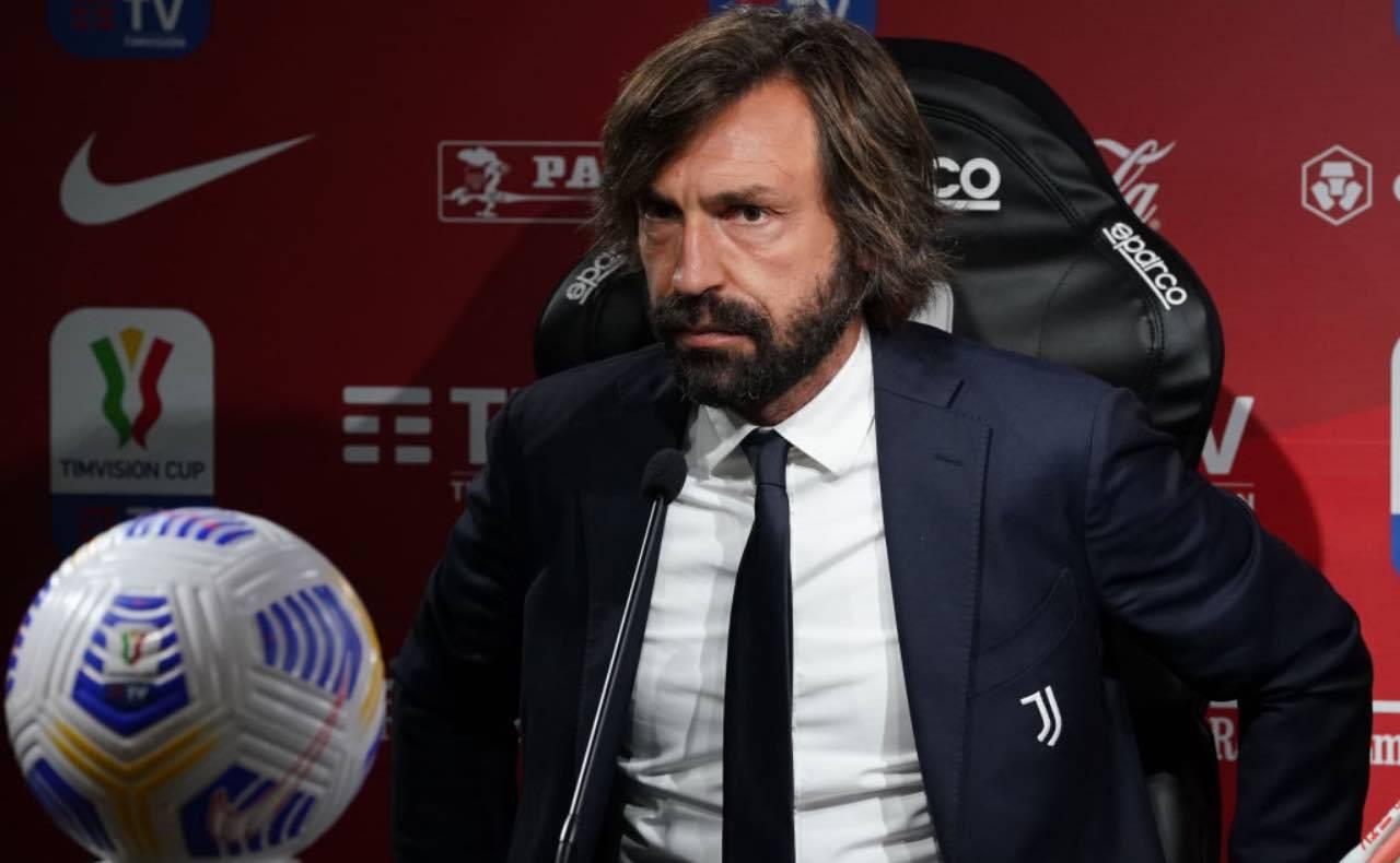 Pirlo in conferenza stampa in Coppa Italia