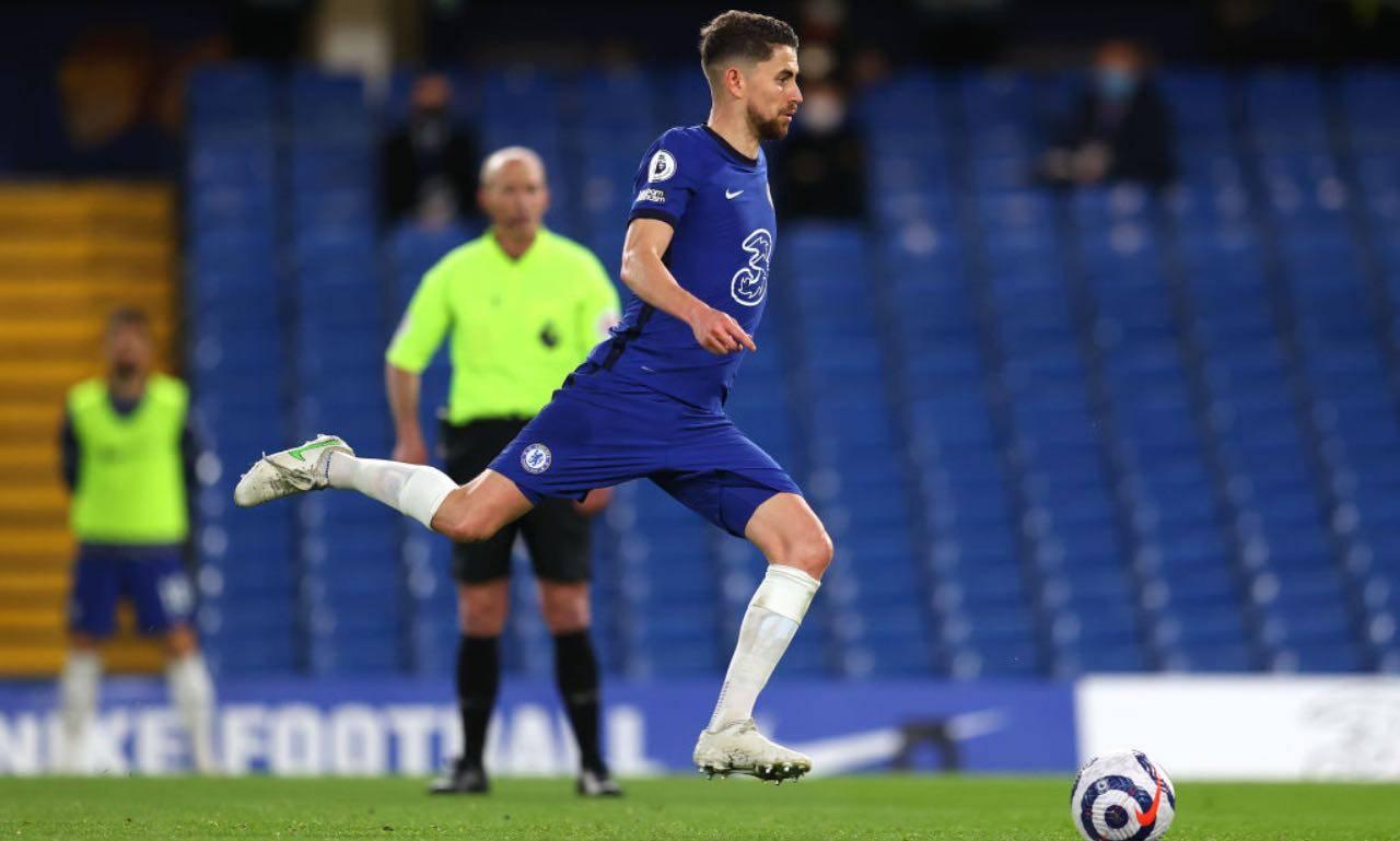 Jorginho in Chelsea-Leicester