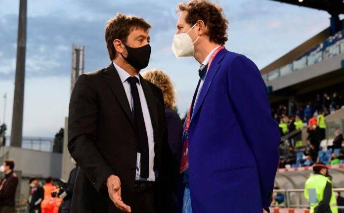 Agnelli ed Elkann parlano in finale di Coppa Italia
