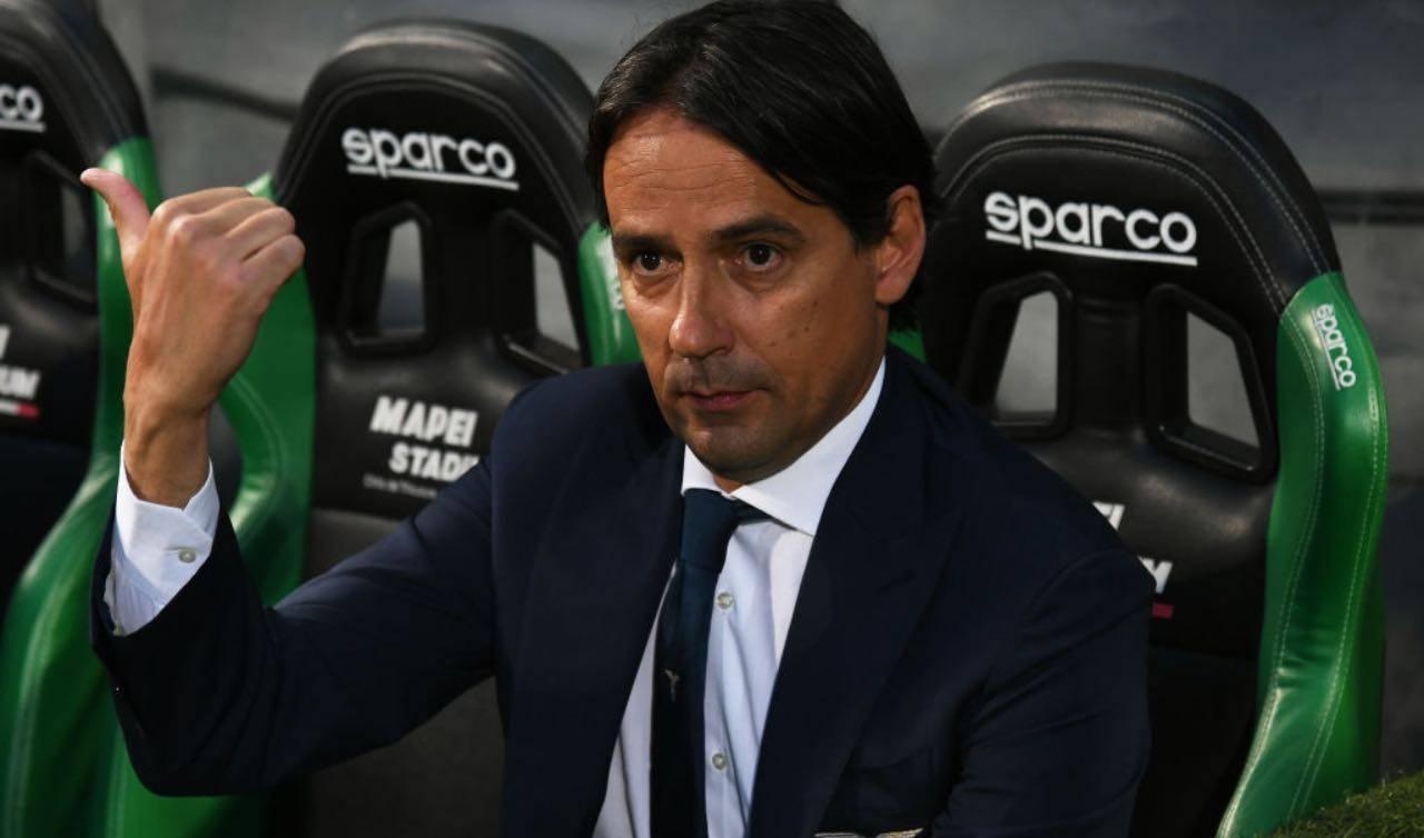 Inzaghi in panchina con la Lazio