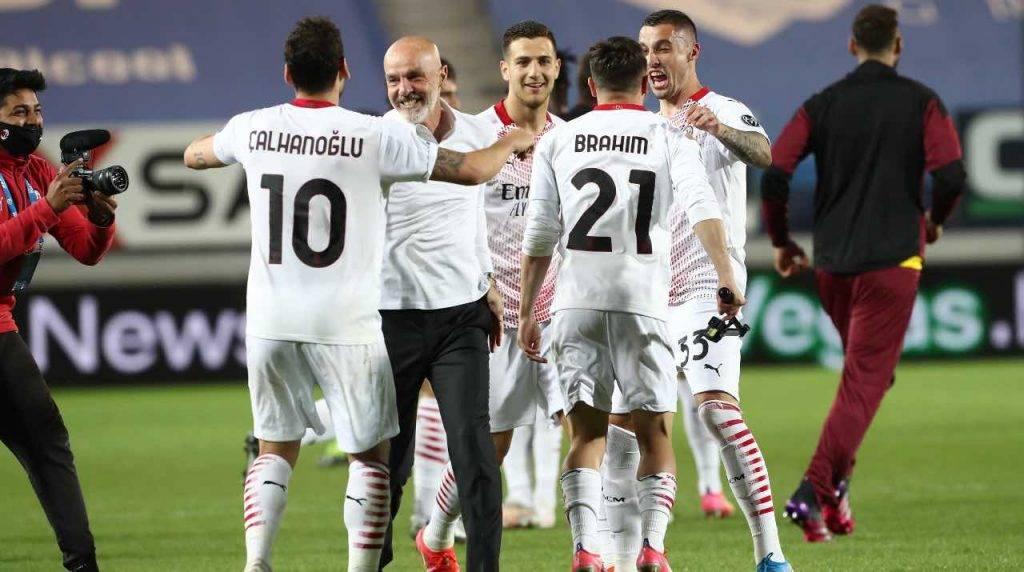 Milan festeggia per la Champions