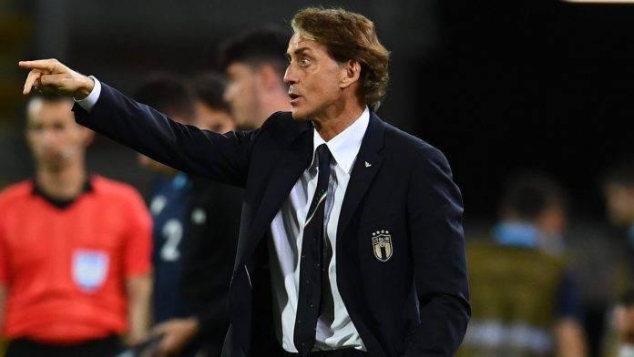 Roberto Mancini a bordocampo
