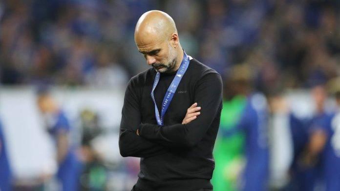 Pep Guardiola affranto