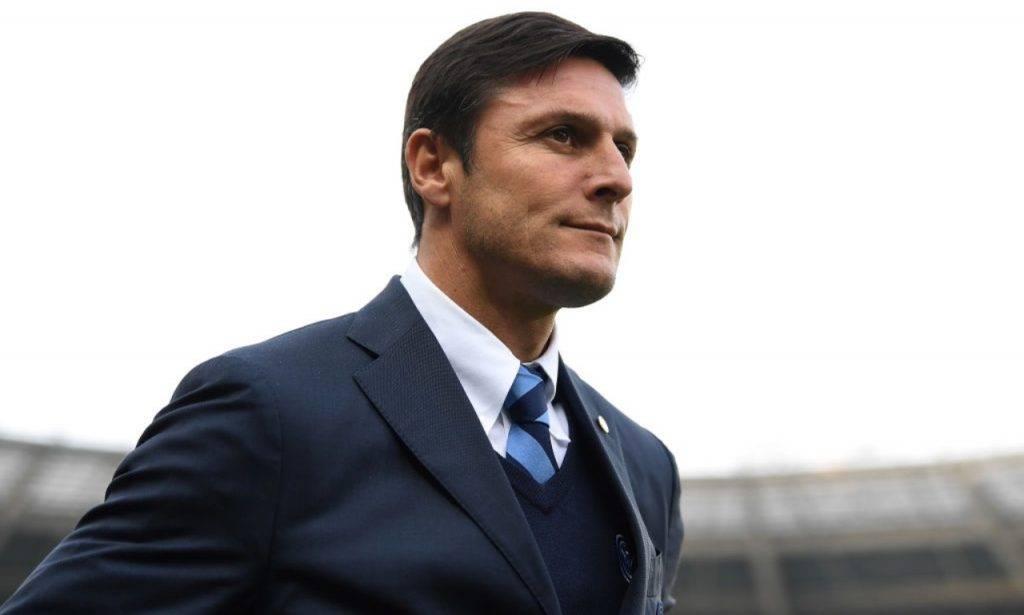 Zanetti allo stadio con l'Inter