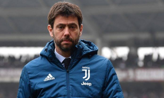 Agnelli in campo con la Juventus