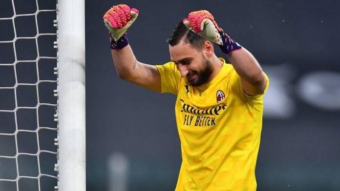 Donnarumma esulta dopo la vittoria con la Juventus