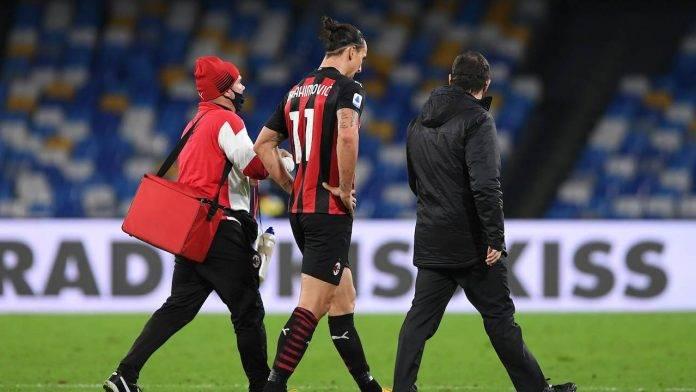 Ibrahimovic lascia il campo per infortunio